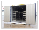 High cube refrigerated container